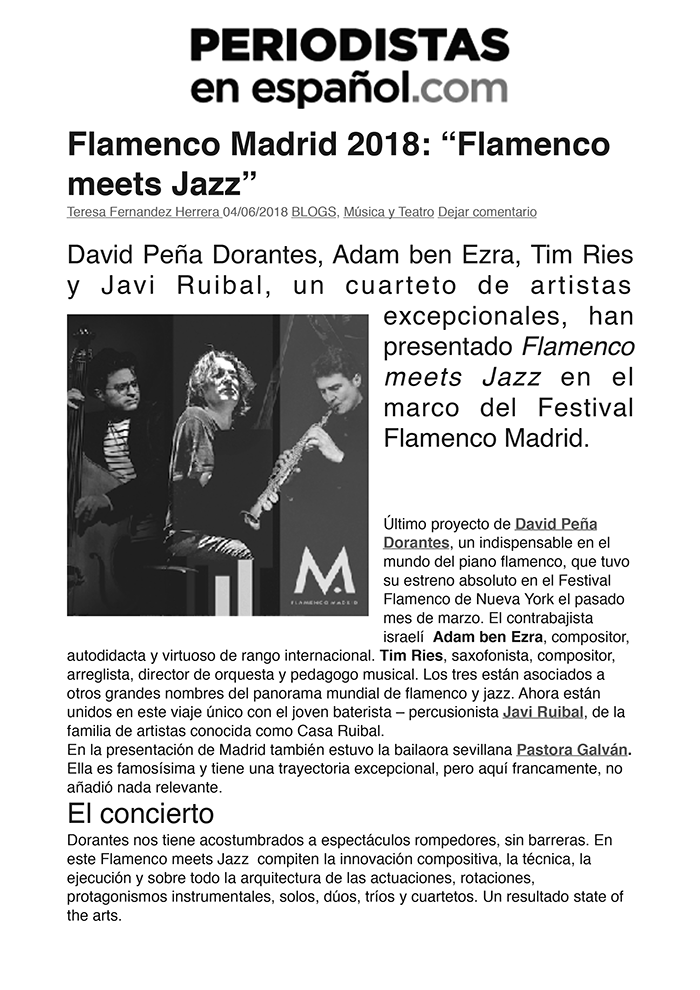 festival flamenco madrid flamenco meets jazz